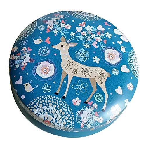 joyMerit Lata Perfumada de La Vela de Los Tarros de La Lata de La Vela de DIY, Caja Redonda de La Lata, Lata del Envase de Almacenamiento