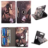 Brown Horse Tablet case 8 inch for Samsung Galaxy Tab 3 8' 8inch Android Tablet Cases 360 Rotating Slim Folio Stand Protector pu Leather Cover Travel e-Reader Cash Slots