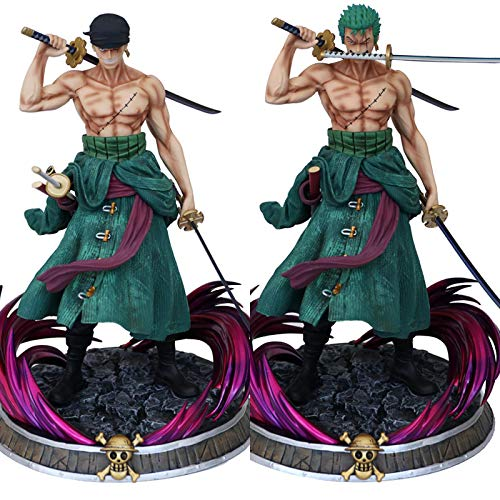 39Cm Anime One Piece Zoro With 2 Heads, Pvc Action Figures Collection Model Toys