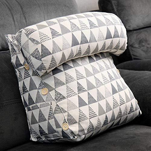 YAALO Verstelbaar driehoekig wigkussen met hoofdsteun positioneringshulp leeskussen afneembaar nachtkastje rugleuning kussen aanbieding rugsteun taillesteun