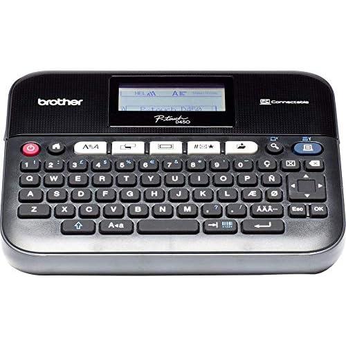 Brother PT-D450VP Etichettatrice Desktop Collegabile a PC, con Display LCD, Ampia Tastiera QWERTY, Tasti Funzione