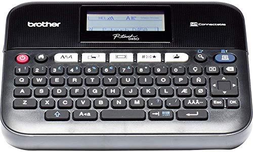 Brother PT-D450VP Etichettatrice Desktop Collegabile a PC, con Display LCD, Ampia Tastiera QWERTY, Tasti Funzione  One Touch , Nastri fino a 18 mm