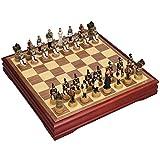 BingWS Ajedrez ParchIs Ajedrez Simulación Carácter Resina Ajedrez Almacenamiento Damas Tablero de ajedrez Juguete Niños Intelectualmente Desarrollo Aprender Ajedrez (Color : A)