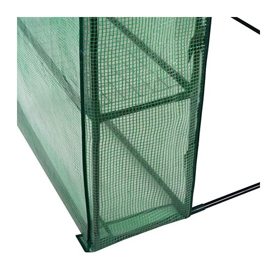 """Mini Walk-in Greenhouse Indoor Outdoor -2 Tier 8 Shelves- Portable Plant Gardening Greenhouse (57L x 57W x 77H Inches… 6 【Strong Construction】This mini walk-in greenhouse is built with high quality metal frame with powder coating, durable bearing net on each layer is strong enough to hold more seed trays, pots and plants growth. The clear waterproof PE cover protects plants from frost or pests while allowing nourishing sunlight to pass through. 【Indoor Outdoor Greenhouse】Waterproof and UV protection, ideal growing environment , can be used indoor and outdoor at all seasons. Perfect for protecting young plants or extending the plant growing season. 【Portable & Easy Setup】Overall Dimensions: 57""""L x 57""""W x 77""""H, Perfect Size for Easy Moving to Indoor or Outdoors. Easy to assemble, no tools required. Enjoying a lot of fun of the flowers and plants in your leisure time!"""