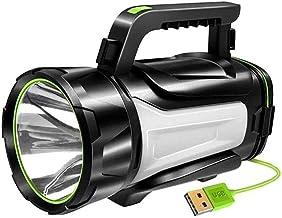 LKNJLL Super Bright LED Handheld Spotlight Flashlight Rechargeable 4800mAh 1000 Lumens Long Lasting Spot Light CREE Waterp...