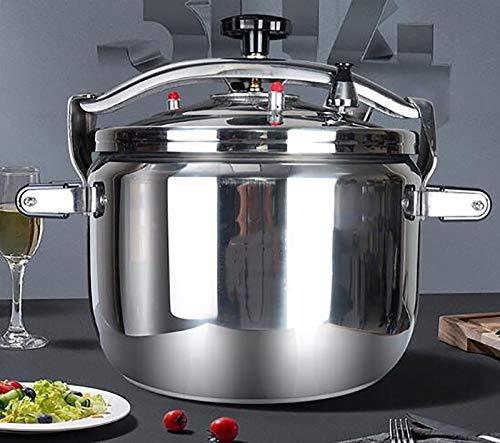 Großvolumige Edelstahl Pressure Cooker, das Hotel Besonderer großer Suppentopf Slow Cooker, Geeignet for Familien-Abendessen, und ist mit dem meisten Öfen, 15L ~ 42L ( Color : Silver , Size : 25L )