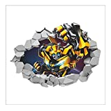 Transformers Movie Bumblebee Riesen Wandtattoo Tapete Dekor Applique 50 * 70 Cm