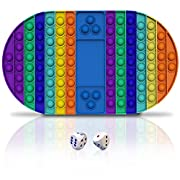 #LightningDeal XEVFITN Big Size Pop Game Board Fidget Toy Jumbo Rainbow Push Bubble Sensory Popper Fidget Toys Extra Large Giant Mega Huge Toy for Autistic Special Needs Anxiety Stress Relief Kids Girls