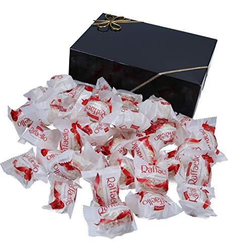 400g Raffaello (ca. 38 Stück) in VonBueren Geschenkverpackung, wiederverwendbar (Klappschachtel schwarz)