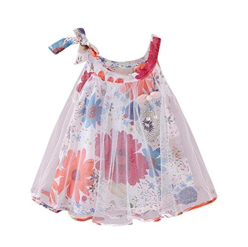 Longra babyjurk, meisjes, bloemenmotief, voor kleine kinderen, jurk, ceremonie, bloemen, borduurwerk, zonder mouwen, netjurk, cocktailjurk, partykleding, schattige jurk
