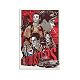 SHUIJ Filmposter Ghostbusters Retro Poster Leinwand Kunst