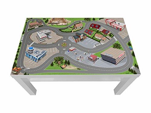 Stadt/City/Auto/Straße Möbelfolie/Aufkleber - LCK05 - passgenau für den Lack Couchtisch (90 x 55 cm) von IKEA - In wenigen Minuten zum einzigartigen Spieltisch für Kinder! (Möbel Nicht inklusive)