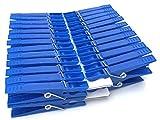 Wäscheklammern groß - (50 Stück) - Blau