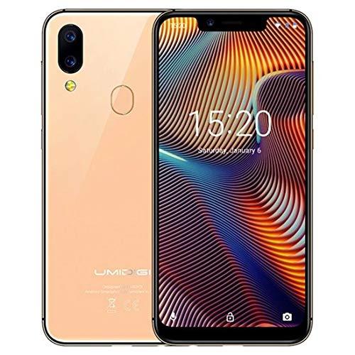 Smartphone Offerta del Giorno, UMIDIGI A3 Pro 5.7' Schermo Notch 19:9, Triplo Slot 2 Nano SIMs+1 MicroSD,Quad Core 3GB+32GB,Cellulari Offerte Android 9.0 Pie,Batteria 3300mAh, Fotocamera 12MP+5MP-Gold