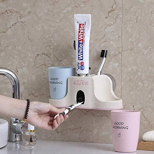 KYZZ Zahnbürste Mouthwash Cup Regal Badezimmer WC Automatische Zahnbürste Set Anzug Sucker Wand-