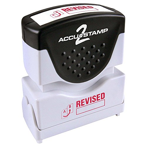 "ACCU-STAMP2 Message Stamp with Shutter, 1-Color, REVISED, 1-5/8"" x 1/2"" Impression, Pre-Ink, Red Ink (035587)"