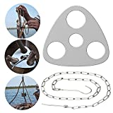 Camping Tripod Board for Outdoor Campfire Cooking,Stainless Steel Camp Fire Pit Tripod with Adjustable Chain for Hanging Cookware,Perfect Campfire Tripod Grill Equipment,Lightweight and Portable