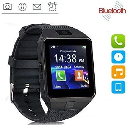 NALMAK DZ43 Model_Ui5 Bluetooth Smartwatch with Camera and Sim Card Support with Touch Screen for All Android and iOS (Black)