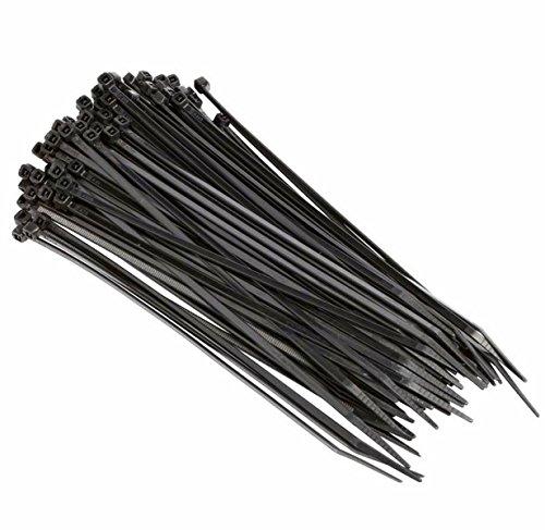 WeiMay - Bridas de plástico de nailon con autobloqueo para varios usos, 100 unidades, Plástico de nailon., negro, 3x200mm