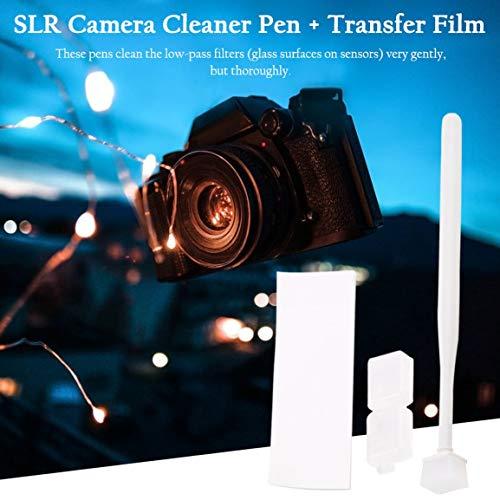 Gelatina sensore CCD CMOS per pulizia della polvere con kit detergente per pellicola di trasferimento per Canon per Nikon per accessori per fotocamere Sony (colore: bianco)