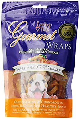 Loving Pets Sweet Potato & Chicken Wraps Dog Treats, Gourmet All Natural, 8 Ounce, 6 Pack