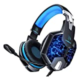 Cuffie Gaming per PS4, YINSAN Cuffie da Gioco Over Ear con Microfono, 7 Luci RGB LED, Audio Cavo...