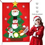 Lulu Home Christmas Bean Bag Toss Game, Christmas Felt Bean Bag Santa Toss Games with 3 snowballs, Xmas Party Games for Kids