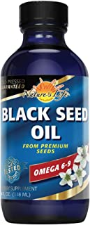 Nature's Life Black Seed Oil, Pure | Immune, Digestion & Heart Function Support | Hair & Skin Health | 4oz, 24 Serv.