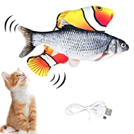 Hywean 2 Pack Catnip Fish Toys for Cats, Realistic Plush Funny Fish Toys Chew Simulation Interactive...