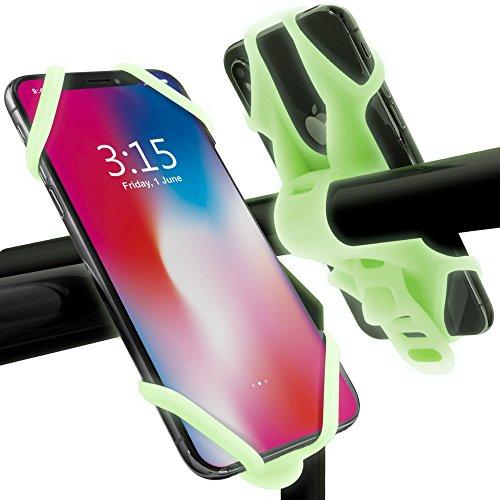 Bone 自転車 スマホ ホルダー 携帯ホルダー 超軽量 全シリコン製 脱着簡単 脱落防止 4-6.5インチのスマホに対応 iPhone 11 Pro Max XS XR X 8 7 6S Plus Xperia ZX3 Galaxy S10 S9 S8