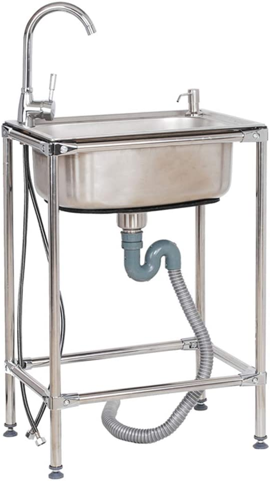 Stainless Steel Max 55% OFF Utility Sink Culinary Commercial Free outlet Stand