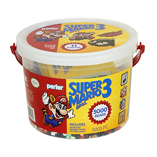 Perler Craft Bead Bucket Activity Kit, 5003 pcs, Super Mario Brothers