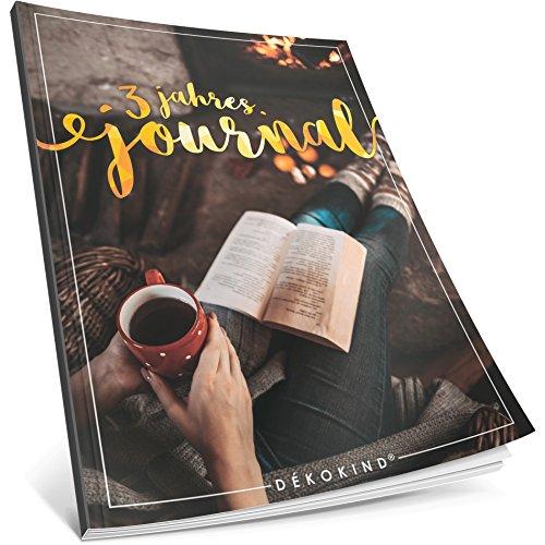 3 Jahres Journal: Ca. A4-Format, 190+ Seiten, Vintage Softcover • Dicker Jahreskalender, Tagebuch für Erwachsene, Kalenderbuch • ArtNr. 45 Gemütlich • Ideal als Geschenk