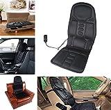 Vinteky Respaldo de masaje para casa o coche, 4 zonas masaje, 8 programas,color negro