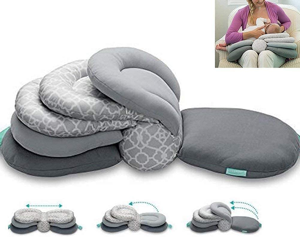 Duoduo Multi-Function Breast Feeding Pillow Maternity Nursing Pillow,Best for Mom,Adjustable Height