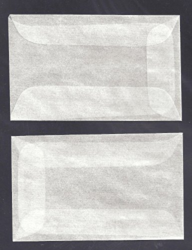 100 #1 Glassine Envelopes Measuring 1 3/4 x 2 7/8 inches