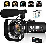 Camcorder Video Camera 4K 30MP WiFi Night Vision Camcorder Vlogging Camera Blogging Camera 16x Digital Camera Vlog Video Camera Camcorder with Microphone