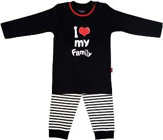 LADI Baby Pajamas Pyjama Sleepwear Short sleeve clothes Outfit Striped Red Heart Printed Newborn Boy Girl Unisex Kid Infan...