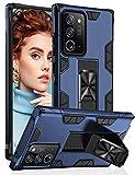 Croazhi Handyhülle Kompatibel mit Samsung Galaxy Note 20 Ultra Hülle Schutzhülle Hart PC Hardcase Cover mit Versteckt Kickstand Armor Outdoor 360 Grad Stoßfest für Galaxy Note 20 Ultra 5G Handy