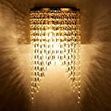 XHH Lámpara de Pared de Cristal de Lujo Restaurante Luz Escaleras Candelabros Sala de Estar Telón de Fondo Pared Luz Decorativa Diámetro 7.9 Pulgadas * Heig (Todo fósforo (sin Fuente de luz))