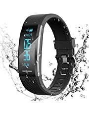 AGPTEK Fitness Tracker Watch for Men Women Smart Bracelet with Heart Rate Monitor/Sleep Monitor IP67 Waterproof Bluetooth Smart Wristband Sport Activity Tracker Pedometer for Android & iOS Smartphones