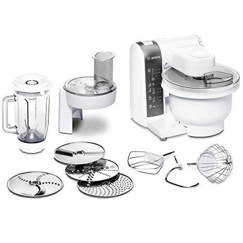 Bosch MUM48020DE Küchenmaschine 600 W, 3,9 L, Durchlaufschnitzler, Mixer-Aufsatz, weiß