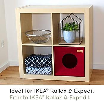 KaraLuna Lit de Chat I Feutre de Haute qualité I Convient pour IKEA Kallax ou Expedit I Maison de Chat I Boîte Carrée Maison pour Chiot et Chaton