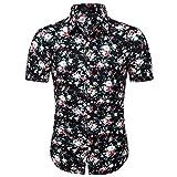 ZODOF Camiseta Hombre Manga Corta Casual, Camisas Hawaiana Algodón Señores Verano Blusas conT-Shirt Tops Moda Regalos para Hombre Regalos para Padres Ropa de Playa Vacaciones Suave