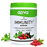OZiva Plant Based Immunity Booster (Plant Vitamin C With Giloy, Elderberry, Acerola Cherry, Rosehip, Acai Berry Extracts) For Better Immunity & Respiratory Health, 250g
