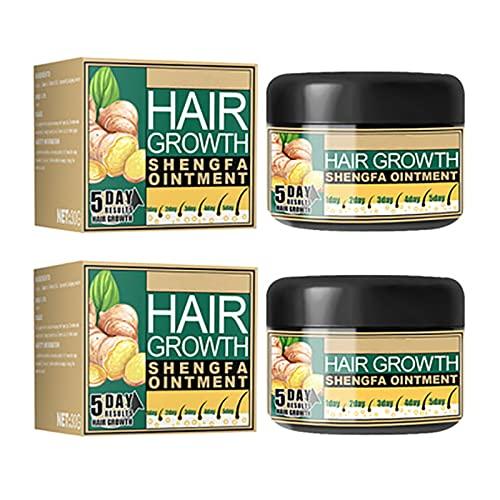2Pcs Ginger Hair Growth Cream, Hair Loss Treatments Hair Care Tool, Moisturizing Scalp Massage Hair Follicle Hair Care Essence Conditioner Cream