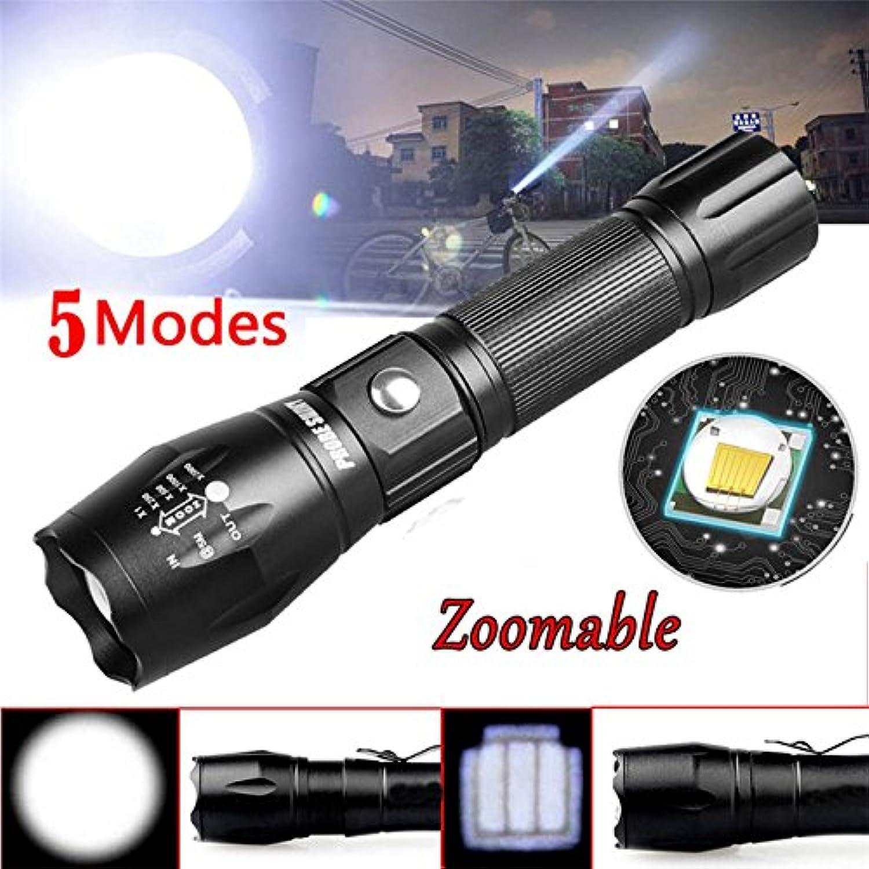 As Photo Show, Schwarz  Sonde Shiny 5000LM Zoom XM-L T6 LED 5 Modi, Aluminium Taschenlampe Dropshipping & 925