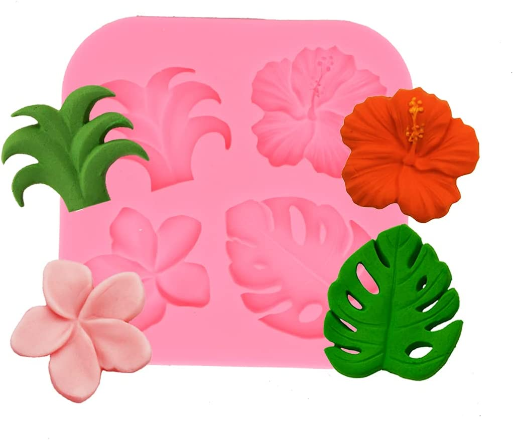Tropical Flowers and Leaves Mold Tropical Party Decorations Mold Hawaiian Party Decorations Mold Luau Decorations