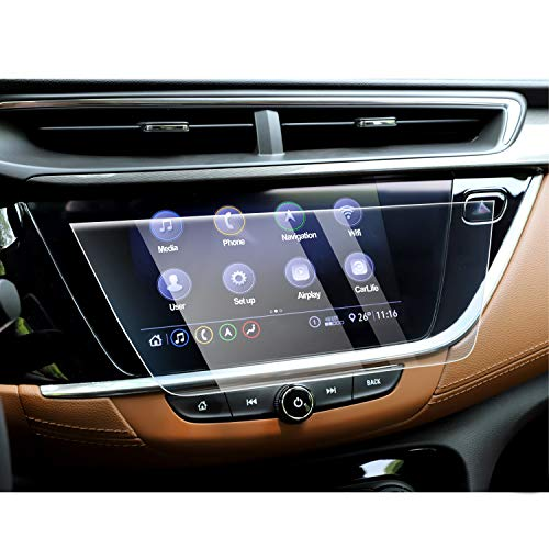 Tempered Glass High Clarity Scratch Resistance CDEFG Car Screen Protector Center Control Navigation Touch Screen Protector for 2018 2019 Buick Enclave 8 Inch