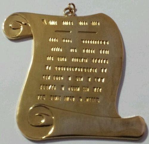 Masonic Orator Collar Jewel in Gold Tone